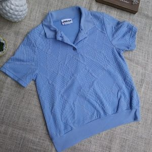 Blue polo top